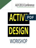 Active Design Workshop