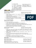 Formal Resume