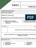 FORMULARIO SUCAMEC