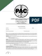 PAC 2 - CUADRO II PARA LA EVALUACIÓN DEL PROGRESO EN EL DESARROLLO SOCIAL
