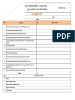 Internal Audit Checklist - Packing & Dispatch
