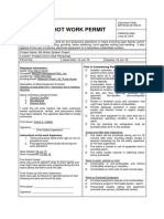 HOT WORK PERMIT SAMPLE