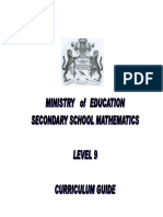 Maths Curriculum Guide Level 9