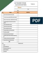 Internal Audit Checklist - Maintenance