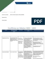 MIII-U2-Actividad 2. Conflictos en México 1833-1855.