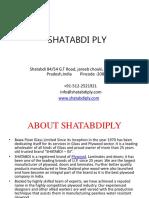 SHATABDI PLY  WOOD