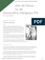 Assembleia de Deus -Ministério de Madureira_Melgaço_PA_ HISTÓRIA DA ADMADUREIRA