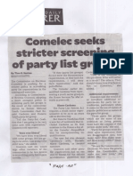 Philippine Daily Inquirer, Aug. 13, 2019, Comelec seeks stricter screening of party list groups.pdf