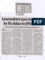 Philippine Daily Inquirer, Lawmakers eye road map to fix Edsa traffic mess.pdf