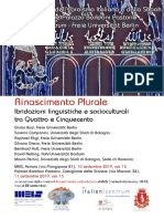 Workshop-Convegno Rinascimento Plurale. (1)
