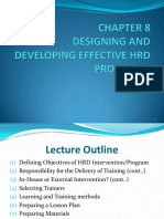Chapter 8 Designing and Developing Effective Hrd Programs
