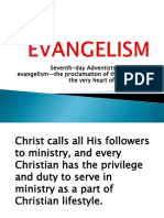 Evangelism. Promotional Talk