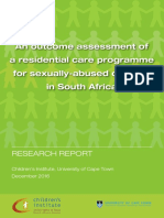 An Outcome Assessment of a Residential Care Programme for Sexually-Abused Children in South Africa