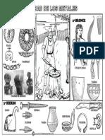 Edad de Los Metales Objetos de Metal de La Prehistoria