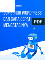 Cara Mengatasi Error Wordpress