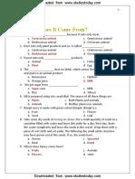 CBSE Class 6 English MCQs-Food.pdf