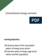Conventional Energy Scenario