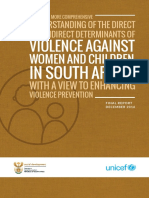 Towards a More Comprehensive Understanding of the Direct and Indirect Determinants of Violence Against Women and Children in South Africa With a View to Enhancing Violence Prevention (2016)