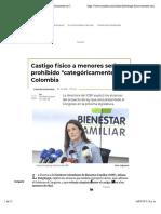 castigo fisico en menores sera prohibido en Colombia