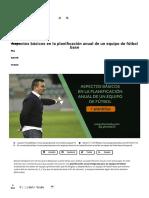 Aspectos Básicos de La Planificación Anual en Fútbol _ Joaquín Poveda
