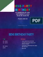 Bens Party Birthday