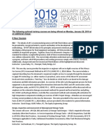2019 Inspection Summit Training Course Descriptions 8-2-18_v2