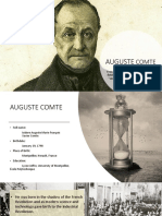 AUGUSTE COMTE- Early life and Contribution to Sociology