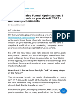 Marketing-Sales Funnel Optimization 3 Questions to Ask as You Kickoff 2012 - MarketingExperiments