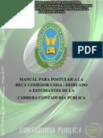 MANUAL PARA POSTULACIÓN A BECA COMEDOR UMSA DEDICADO A ESTUDIANTES DE LA CARRERA CONTADURÍA PÚBLICA.pdf