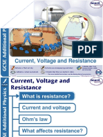 Current Voltage and Resistance