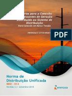 NDU 013 - Critérios para Conexão de Acessantes de Geração Distribuída ao Sistema de Distribuição - BT.pdf