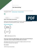 White Label Digital Advertising