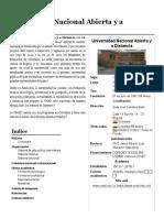 Universidad Nacional Abierta y a Distancia Reseña