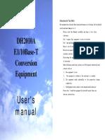 DH2010A Conversion Equipment User's Manual
