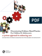 Disseminating Evidence-Based Practice for Children & Adolescents
