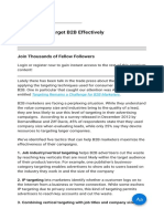 Five Ways to Target B2B Effectively