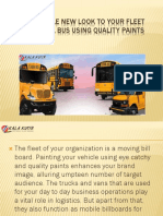 SCHOOL BUS USING QUALITY PAINTS