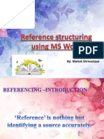 Reference Structuring Using MS Word