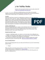 Privacy Policy for NuFika Media