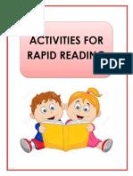 Activities for Rapid Readers Final