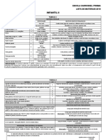 Lista de Materiais Infantil II 291018