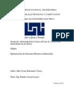 Obtimisacion de sistemas eléctricos industriales
