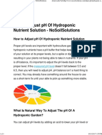 How to Adjust PH of Hydroponic Nutrient Solution - NoSoilSolutions