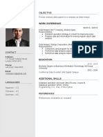Coolfreecv Resume With Photo