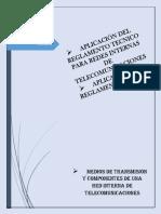 Medios de Transmisión y Componentes de Una Red Interna de Telecomunicaciones
