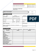 School application sheet sample