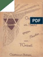 F. Grävell Goethe Im Recht Gegen Newton 1922