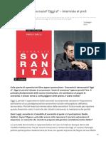 Geopolitica.info-Sovranità è Democrazia Oggi Sì Intervista Al Prof Carlo Galli