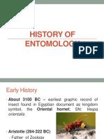 History of Entomology