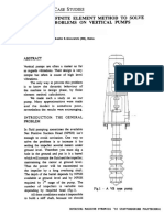 The Use of Finite Element Method to Solve Vibration Problems on Vertical Pumps